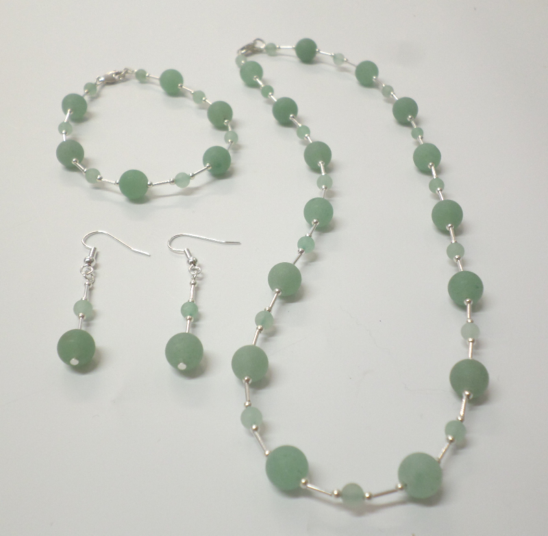 Aventurine (green frosted) Necklace