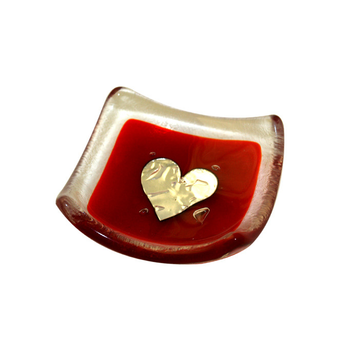Jo Downs RED Earring Dish