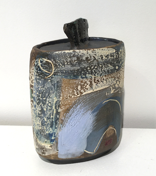 Blue keeper (lidded Pot)